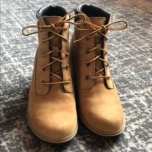 Timberland wedge booties